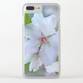 Almond tree flower blooming Clear iPhone Case