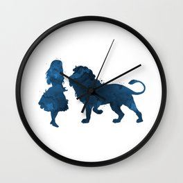 Lion and girl Wall Clock