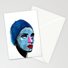 Woman's head Stationery Cards