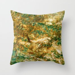 Silica carbonate rock natural pattern Throw Pillow