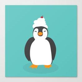 Penguin sweetness Canvas Print