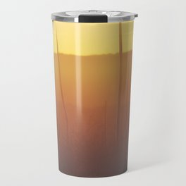 Golden Grass Tree Sunset Travel Mug
