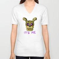 fnaf V-neck T-shirts featuring FNAF Springtrap by Bloo McDoodle