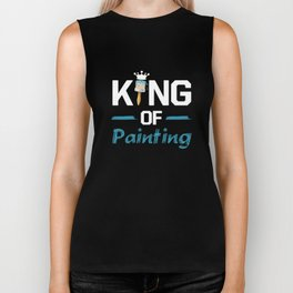 King of Painting Paint Contractor Artist T-Shirt Biker Tank