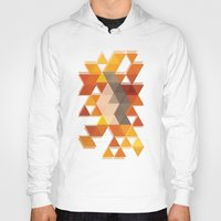 coachella Hoodies featuring Geometric Penguin by Joel M Young