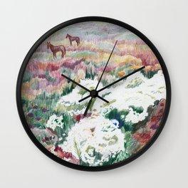 Wild chamomiles Wall Clock
