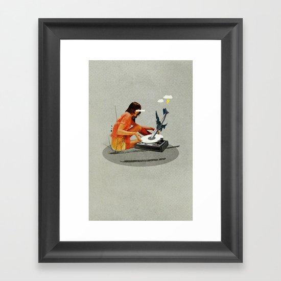Blind, deaf too   Collage Framed Art Print