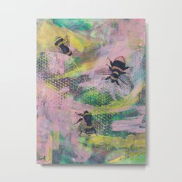 Bee Trio Metal Print