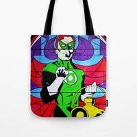 religion Tote Bags featuring heroic religion by Flo Zero
