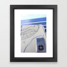 Beyond The Blue Framed Art Print