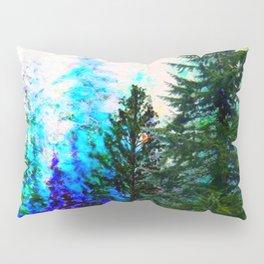 SCENIC BLUE MOUNTAIN GREEN PINE FOREST Pillow Sham