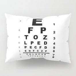Eye Test Chart Pillow Sham