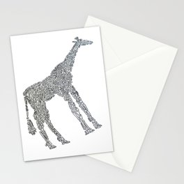 Giraffe by Shapes Stationery Cards