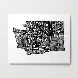 Typographic Washington Metal Print