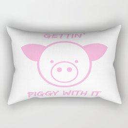 Gettin' piggy with it Rectangular Pillow