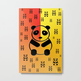 Pandas Metal Print