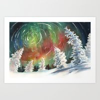 northern lights Art Prints featuring Northern Lights by Dana Martin