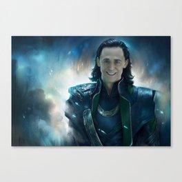 Smile Loki Canvas Print