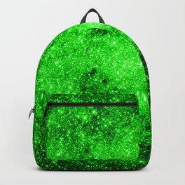 galaxy Stars 3 Bright Green Backpack