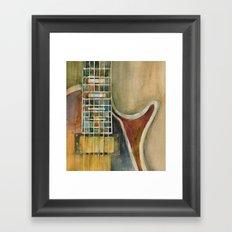 Gibson Electric Guitar Framed Art Print