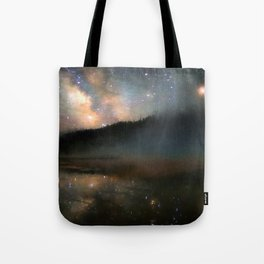 Milky Way Over Yellowstone Tote Bag