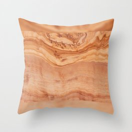 Olive wood board texture Throw Pillow