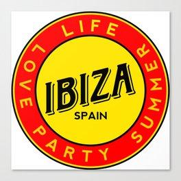 Ibiza, summer, party, love, circle Canvas Print