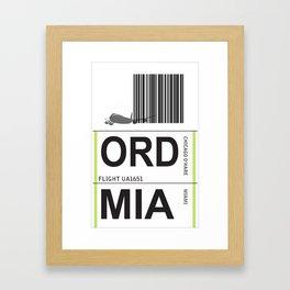 jetset: ord to mia Framed Art Print