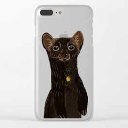 Sable Marten in Green Clear iPhone Case