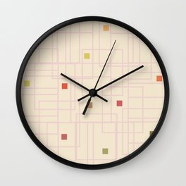 Urban Colorful Spots Wall Clock