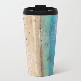 AERIAL. Summer beach Travel Mug