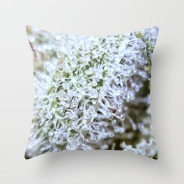 Full Trichomes Throw Pillow