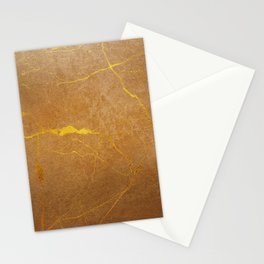 Light-brown faux marble Stationery Cards