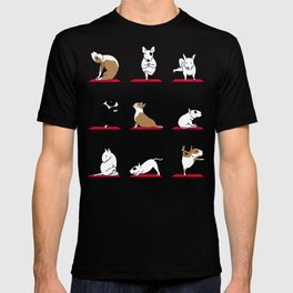 Bull Terrier Yoga T-shirt