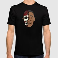 Faces of Breaking Bad: Gustavo Fring (Face-Off) Mens Fitted Tee MEDIUM Black