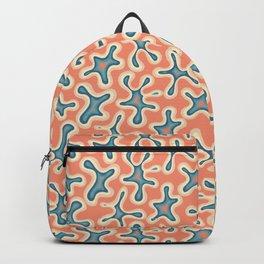 Hazey blob orange and blue Backpack