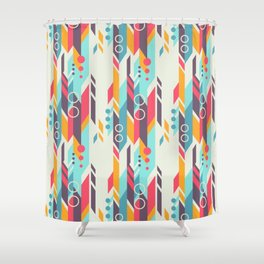 Geometri pattern Shower Curtain