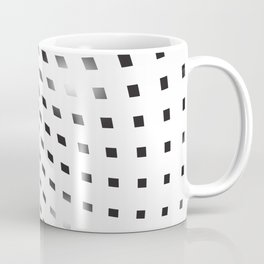 BLACK SQUARES Abstract Art Coffee Mug
