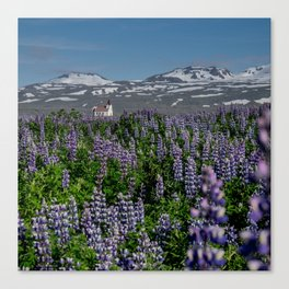 Ingjaldshóll Church Canvas Print
