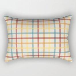 Multi Check 1 - red teal orange yellow Rectangular Pillow