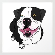 Bubba, the American Bulldog Art Print