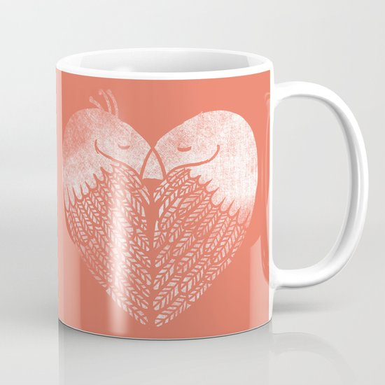 Love birds sitting on a tree Mug