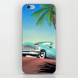 Classic Car vintage poster iPhone Skin