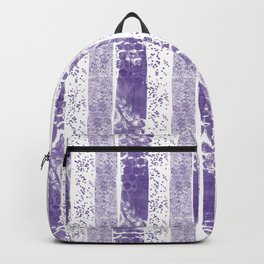 Lilac watercolor paint brushstrokes confetti stripes Backpack
