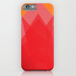Colorful Red Abstract Mountain iPhone Case