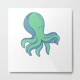Octopus Is Team Multitask Metal Print