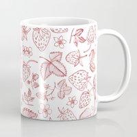 oana befort Mugs featuring Sreawberry by Oana Befort