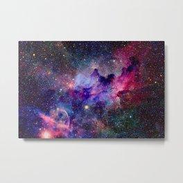 Galaxy Universe Stars Metal Print