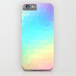 Pastel Rainbow Gradient With Stained Glass Effect iPhone Case