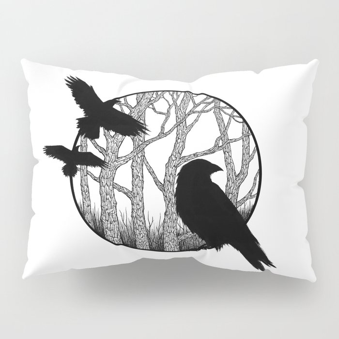 Black Birds II Pillow Sham